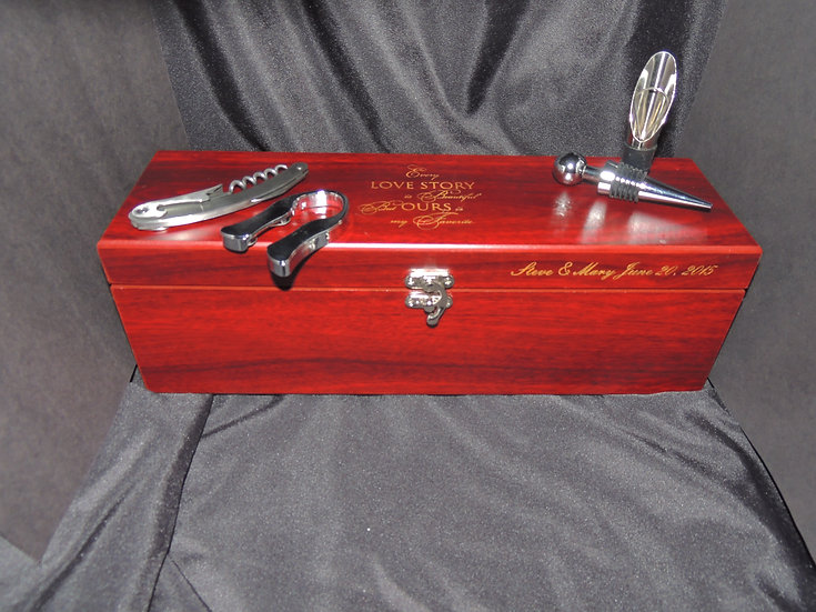 Rosewood Wine Gift Box With Tools