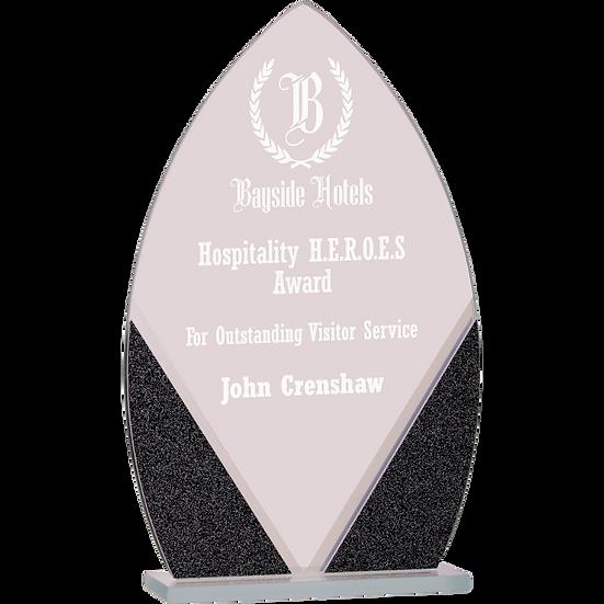 Black Oval Designer Glass Award