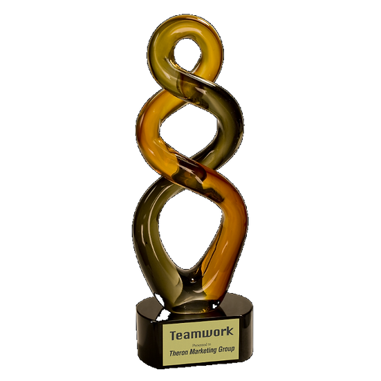 Double Twisted Art Glass Award