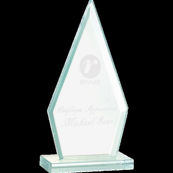 Jade Beveled Triangle Glass Award