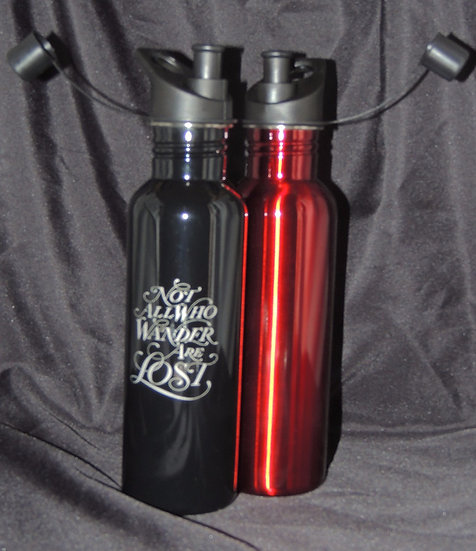 Custom Etched Stainless Steel Water Bottles