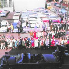Dallas Motorcade on Main Street Minutes Before Assassination