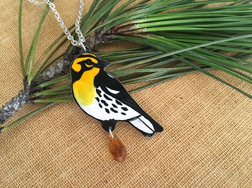 BLACKBURNIAN WARBLER NECKLACE