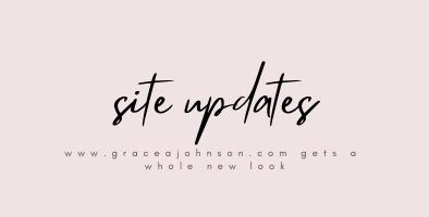 GraceAJohnson.com Gets a Whole New Look!