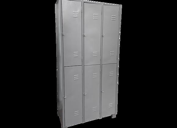 Armário  para vestiário 6 portas grades