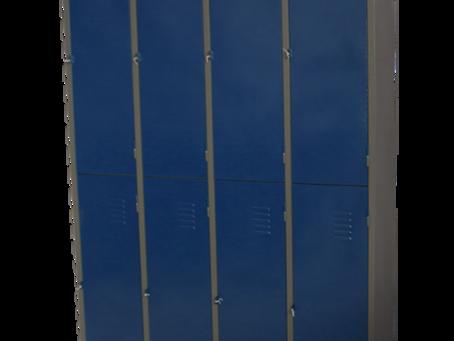 Armário para Vestiário com portas coloridas