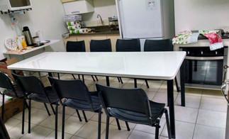 conjunto de mesa monobloco