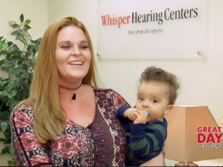 Mother cries when she gets free hearing aids