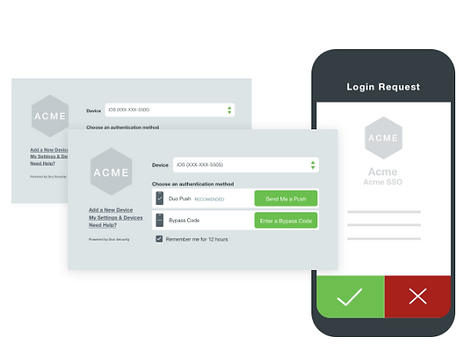 2 factor authentification screen shots