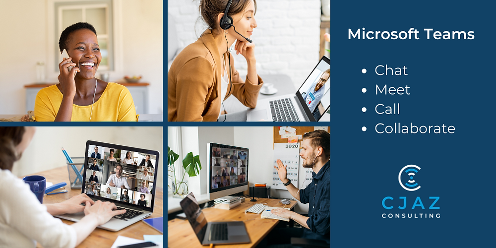 4 home workers all using MS Teams to communicate