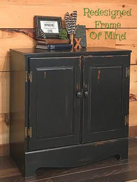 2 Door Black Hutch