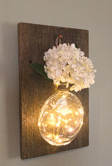 Lighted Wall  Vase