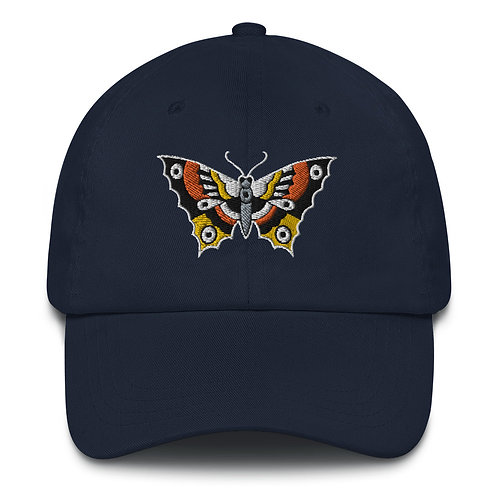 Butterfly embroidered Dad hat