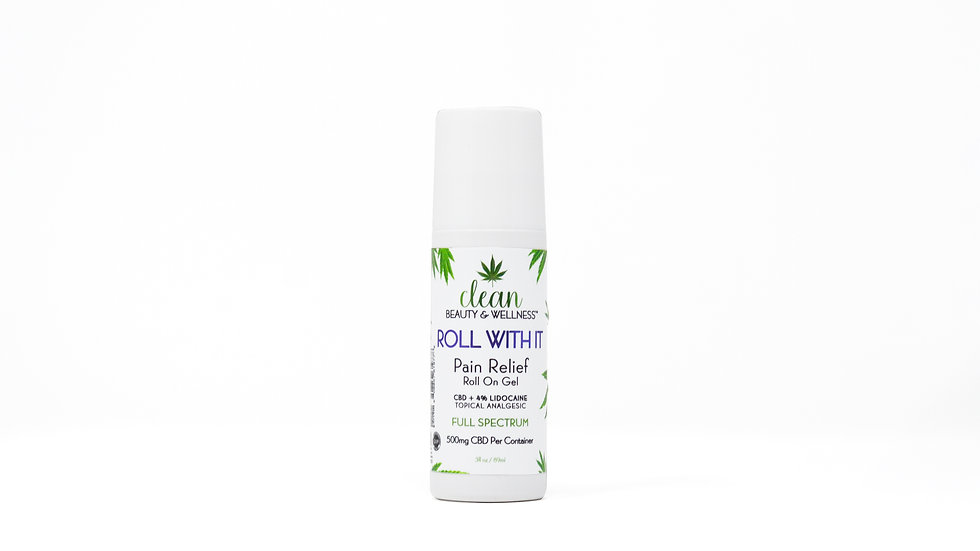 ROLL WITH IT - CBD 4% Lidocaine Pain Relief Roll-On