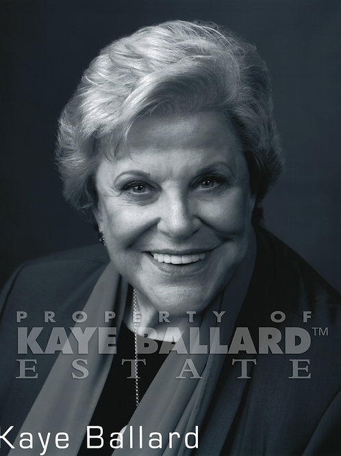 Kaye Ballard Black & White Publicity Photo
