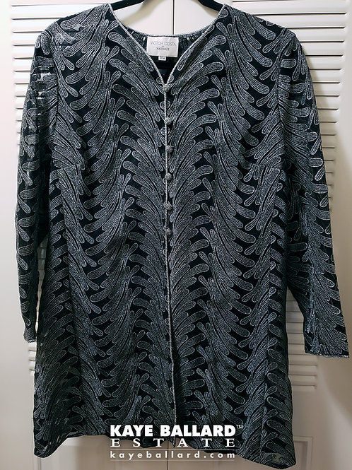Victor Costa Black and Silver Jacket