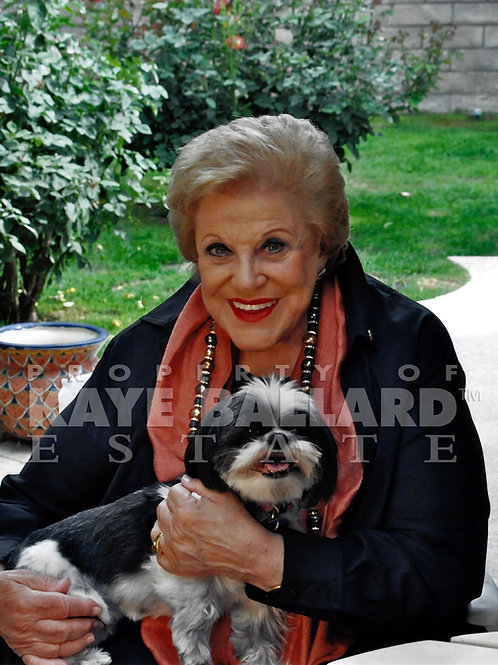 Kaye with one of her puppies
