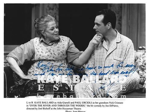 Paul Urcioli signed photo with Kaye