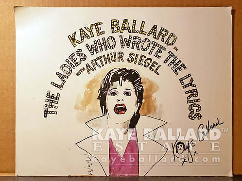 """Autographed Album Cover Cutout, """"The Ladies Who Wrote The Lyrics"""""""