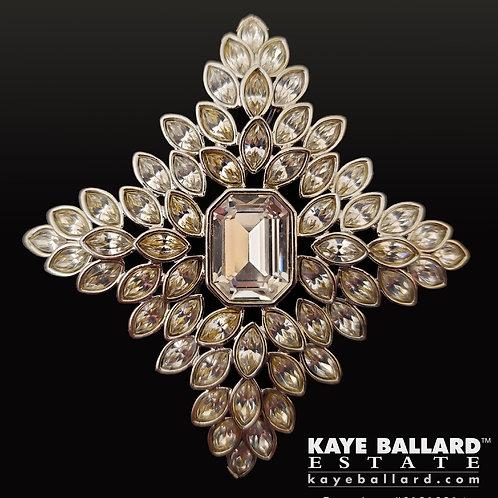 Kenneth Jay Lane Jackie Kennedy Crystal Cruciform Brooch