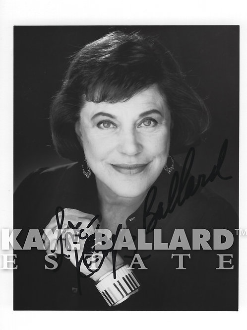 "Signed Kaye Ballard 5""x7"" Publicity Photo"