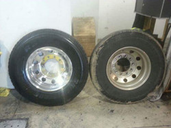 Polished rim before and after