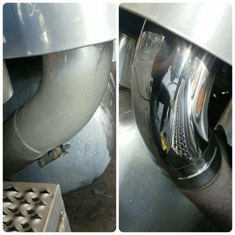 Exhaust shiny steel