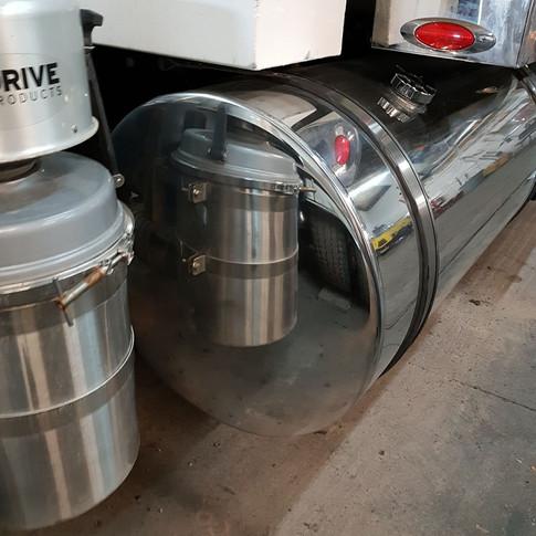 mirror shine aluminum tank