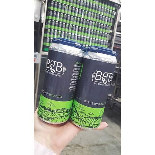 Canning day ✌️ .__BIG BEAVER BRUT IPA CO