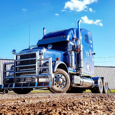 Freightliner shiny trucks