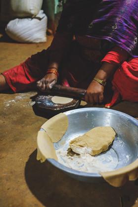 Préparation de chapati (Népal)
