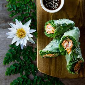 Rouleaux de printemps vegan au chou blanc et carottes du jardin