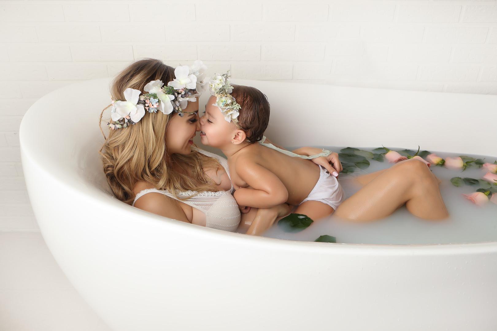 embarazo milk bath
