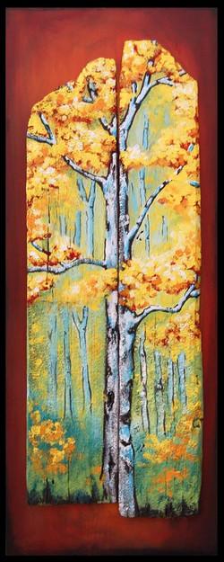 Birch in the Fall