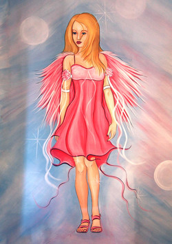 Fairy girl in pink