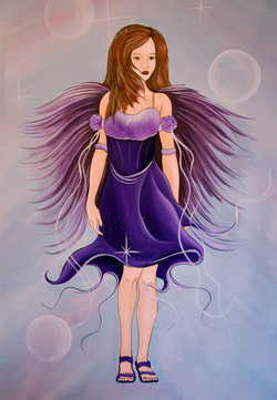 Fairy girl in purple