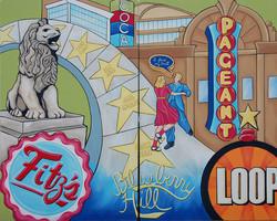 Diptych:The Loop mural