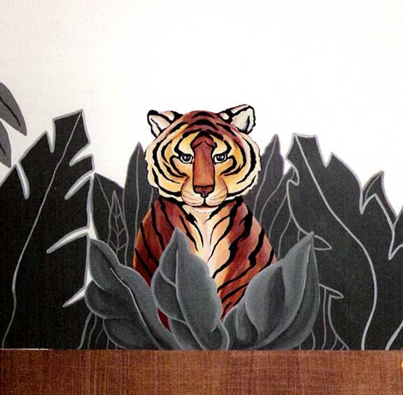 Jungle Theme: Close up of Tiger