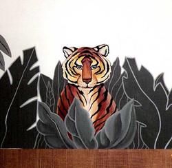 Jungle Theme: Close up of Tiger