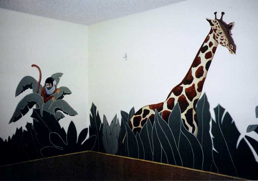 Jungle Theme: monkey, giraffe