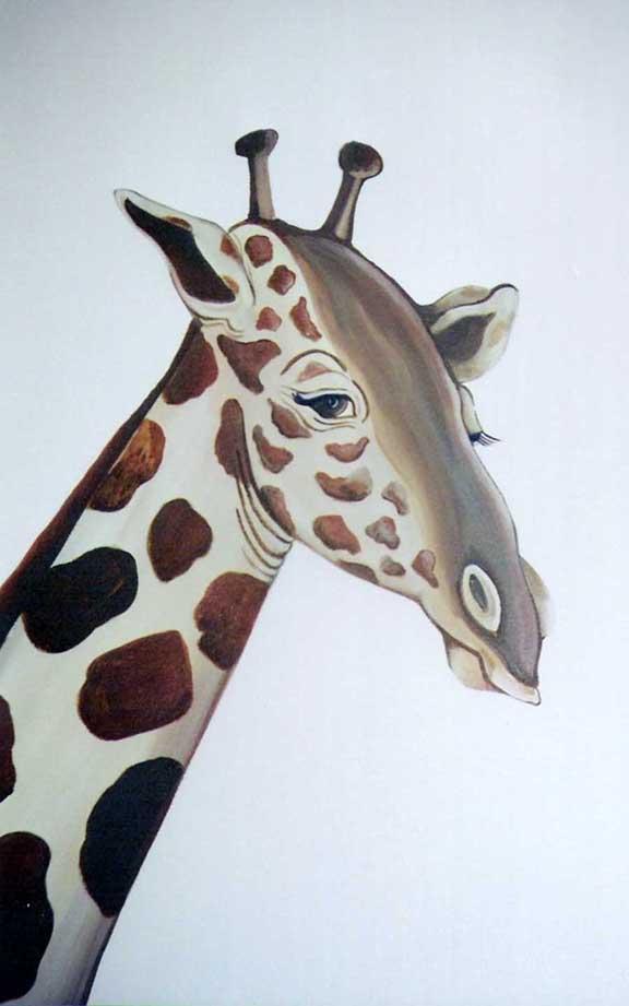 Jungle Theme: close up of giraffe