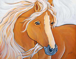 Golden Horse on Canvas