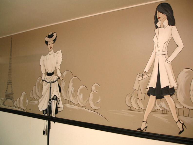 French Girls Mural