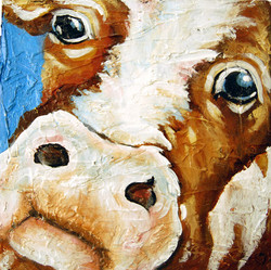 """""""Curious Cow"""" - SOLD"""