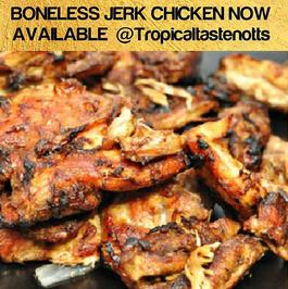 Boneless jerk chicken _Tropicaltastenotts #jerkchicken #bonelessjerkchicken #caribbeanfood #nottinghamfood