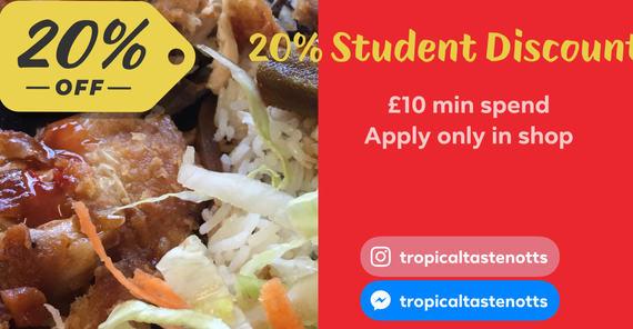 20% student discount