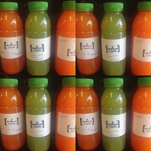 Cucumber and ginger, carrot and Pineapple