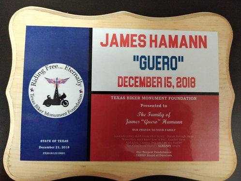 Fallen Honoree Plaque