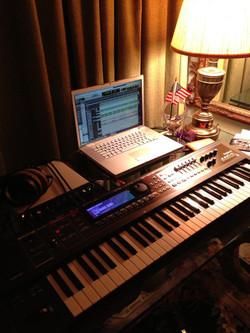 Improvised studio at home