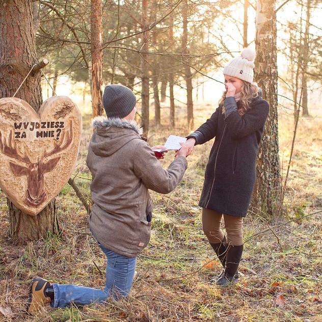 zaręczyny w lesie